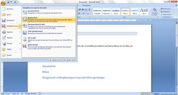 tutoriel  cr u00e9er un mod u00e8le de document